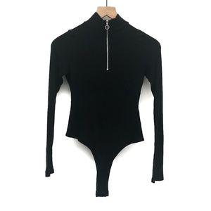 Asos Collusion Black Thong Bodysuit - Size 6